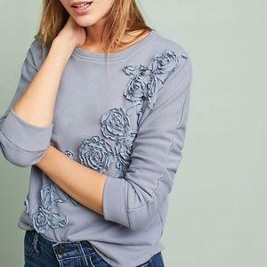 Anthropologie Ambrosi Applique Sweatshirt